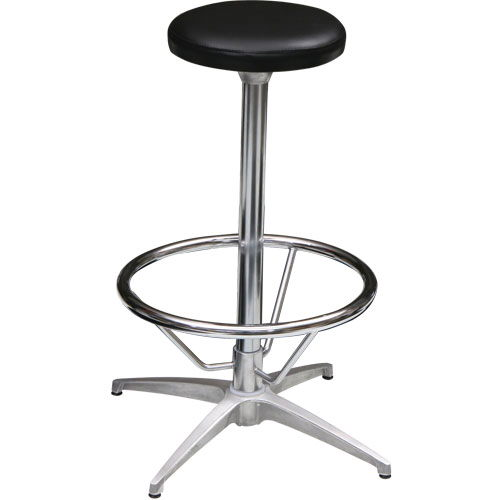Bar Stool 12 Inch Black Leather Rd Rentals Dallas Tx