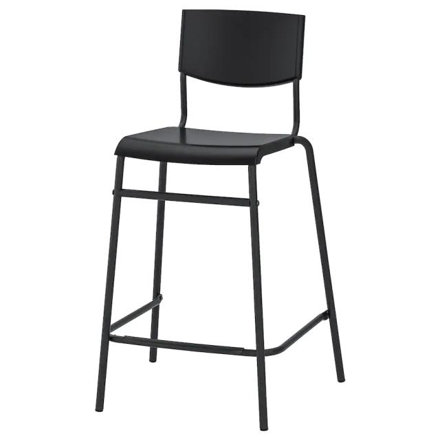 Where to find BAR STOOL, BLACK BACKED in Dallas