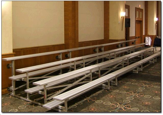Where to find BLEACHER, 3 Row 4.5 W x 6  L in Dallas