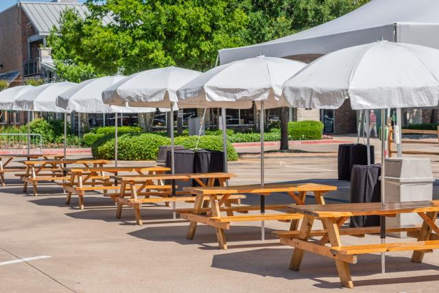 Where to find PICNIC TABLE W  UMBRELLA in Dallas