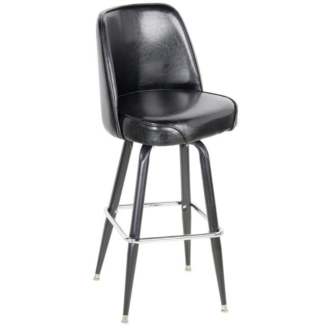 Where to find BAR STOOL, LEATHER WITH BACK in Dallas