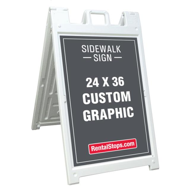 Where to find SIDEWALK SIGN 24 x 36 in Dallas