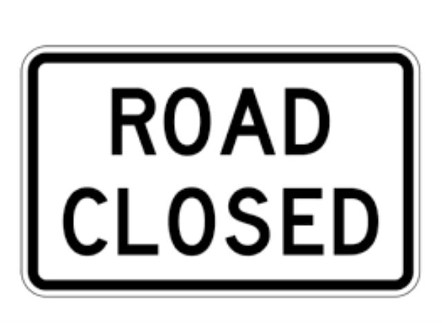 Where to find ROAD CLOSED SIGN in Dallas